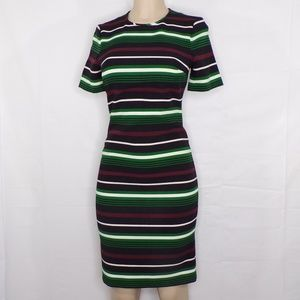 Micheal Kors Striped Sheath Career Dress, Sz 2